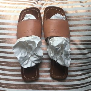 Kate Spade New York dark camel slides sz 7